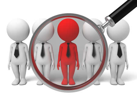 talent: searching a group op people for talent with a magnifier