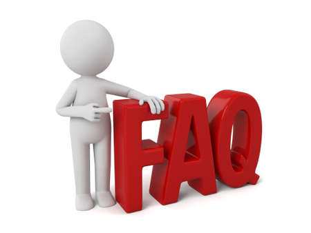 answer: 3d people with the word of FAQ. Stock Photo