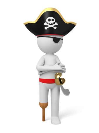 swordsman: A 3d pirate with a sword.