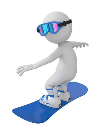 3d people on a snowboard.