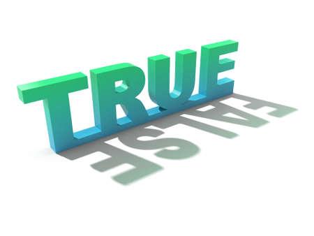 contradiction: True letters casting false shadow.