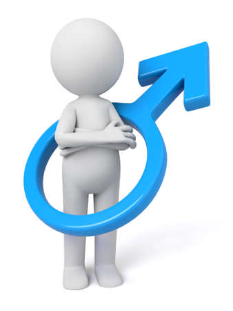 masculine: 3d people with a male symbol Stock Photo