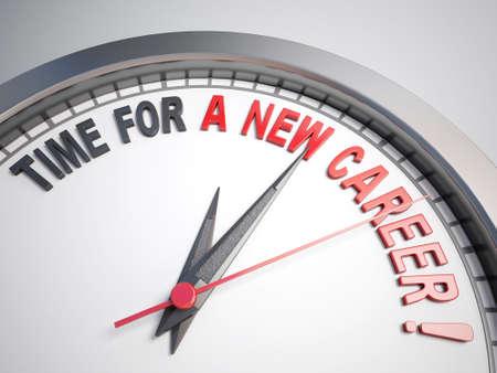 Horloge avec des mots de temps pour une nouvelle carrière sur sa face Banque d'images - 44103760