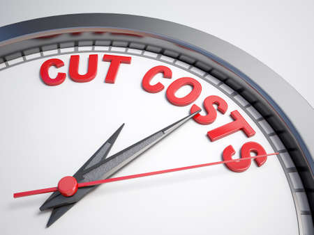 count down: Clock with words time to cut cost on its face