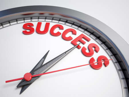 count down: Clock with words time for success on its face