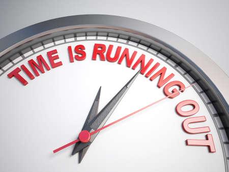 Horloge avec des mots le temps est compté