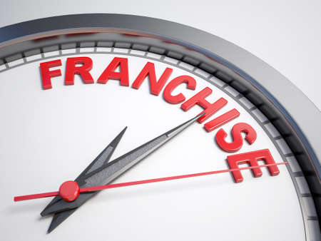 franchise: Clock with word franchise