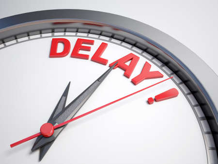 Clock with word delay   Banque d'images