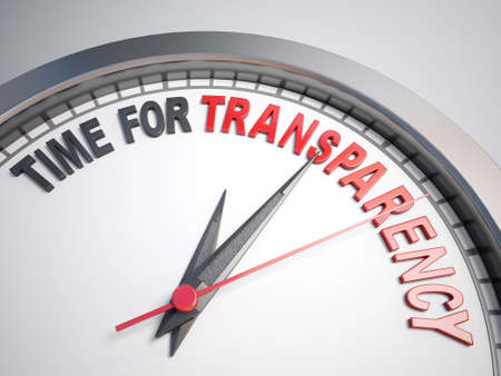 count down: Clock with words time for transparency  Stock Photo