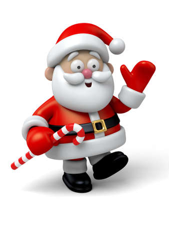personalized: The Santa Claus makes a personalized gesture