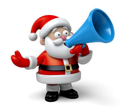サンタ クロースがスピーカーで叫んでいます。 写真素材 - 47551498