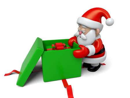 boxs: The Santa Claus and gift boxs