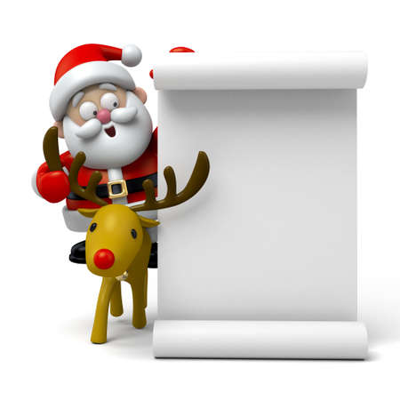 santa claus background: The Santa Claus and  white scroll