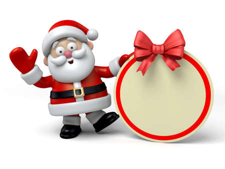 The Santa Claus and a gift