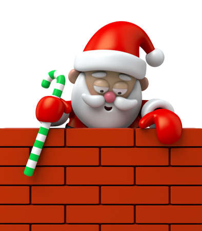 climbing wall: Santa Claus is climbing wall