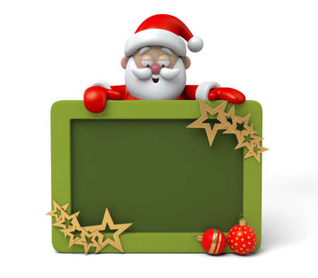 The Santa Claus and a photo frame