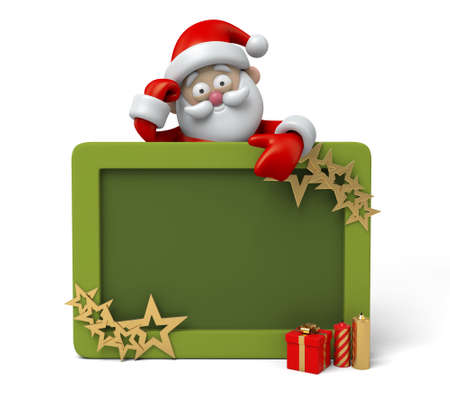 pere noel: The Santa Claus and a photo frame