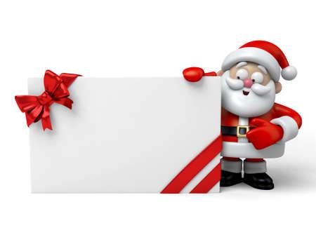 The Santa Claus and a gift box Reklamní fotografie