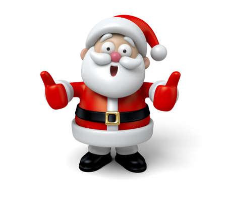 Père Noël avec les pouces jusqu'à