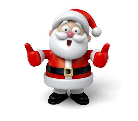 santa claus background: Santa with thumbs up