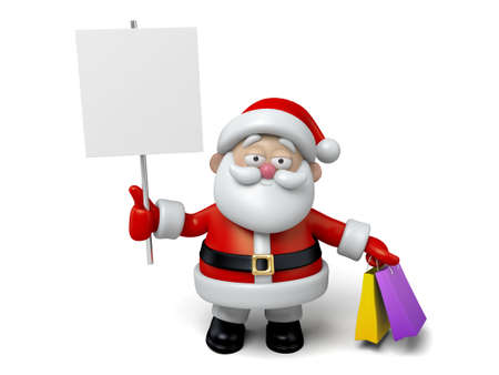 shoppping: The Santa Claus and a white board