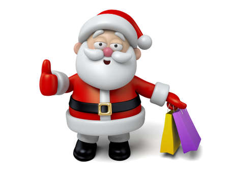 shoppping: The Santa Claus makes a personalized gesture