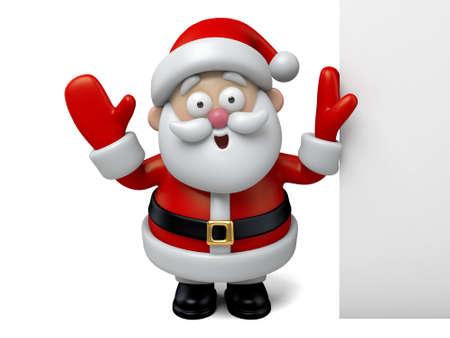 santa clos: El Santa Claus y un tablero blanco