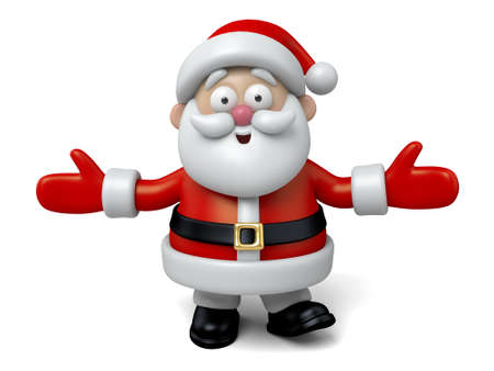 santa claus background: The Santa Claus makes a personalized gesture
