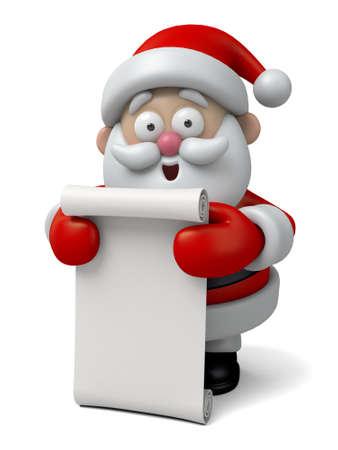 papa noel: El Santa Claus y una lista larga de regalo