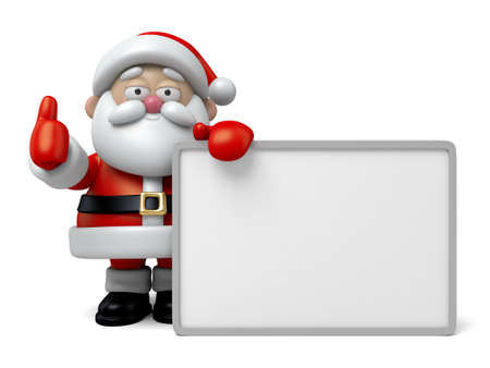 santa claus background: The Santa Claus and a white board