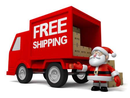 delivering: Santa delivering parcels