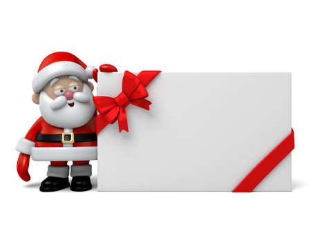 papa noel: El Pap� Noel y una caja de regalo Foto de archivo