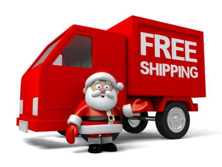 santa claus: Santa free shipping