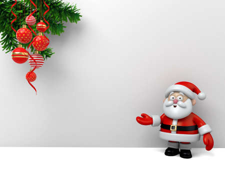 The Santa Claus and white board