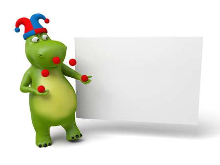 3D 뚱땡과 현수막