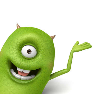 unruly: The little monster was smiling in the show Stock Photo