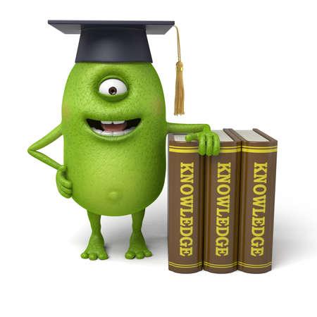graduado: Pequeño monstruo tiene un grado