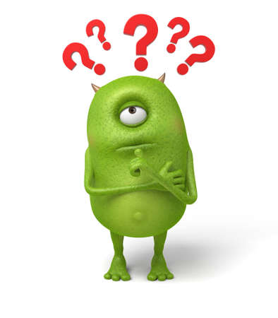 puzzled: Little monsters are very confused about these questions