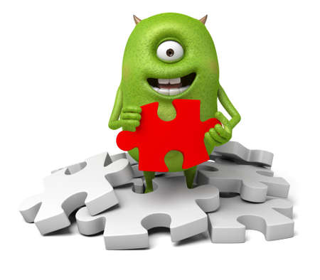 Little monster and a bunch of puzzles