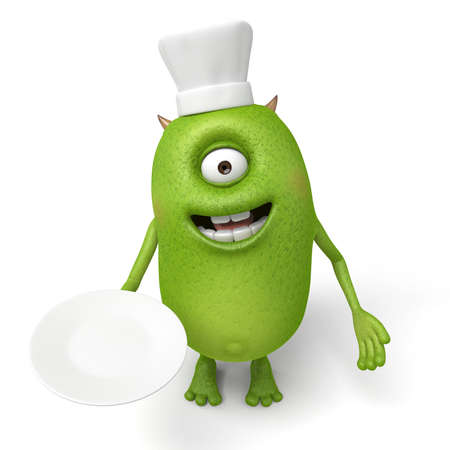 little chef: Little monster is a Western Chef