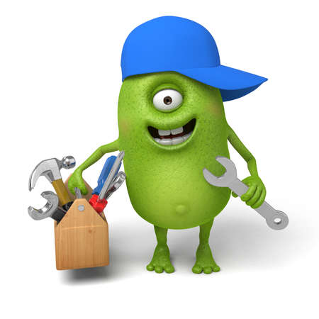 Little monster is a maintenance worker