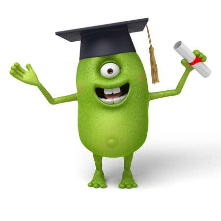 Little monster got a degree