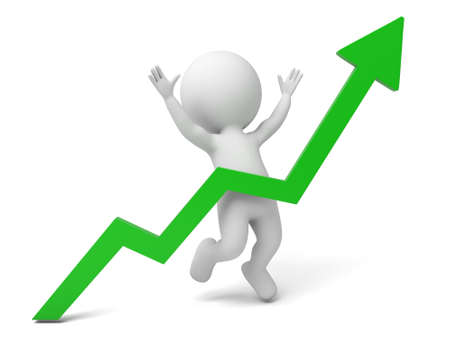 curve: The 3d guy and a curve of upward trend