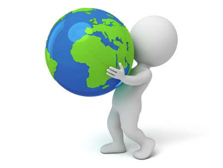 reciclar: El hombre 3d y un globo