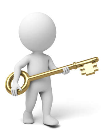 The 3d guy and a golden key