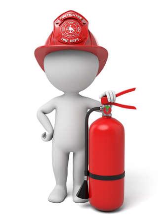 De 3d man is een brandweerman