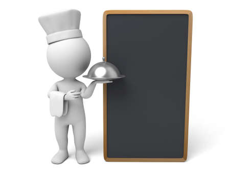 kitchener: The 3D guy is a chef Stock Photo