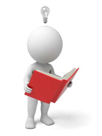 persona leyendo: El chico 3D consiguió una idea del libro