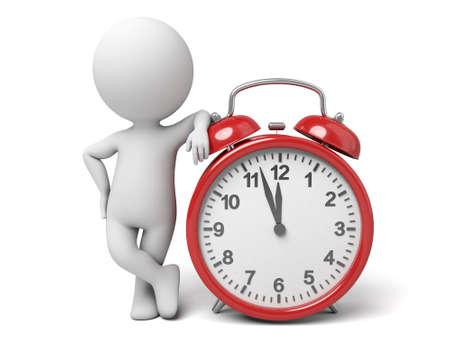 punctual: El tipo 3D y un reloj