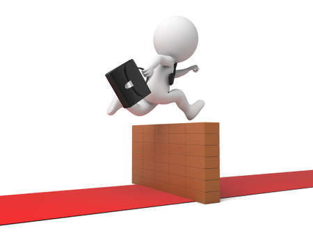 stride: The 3D guy crossed a barrier Stock Photo